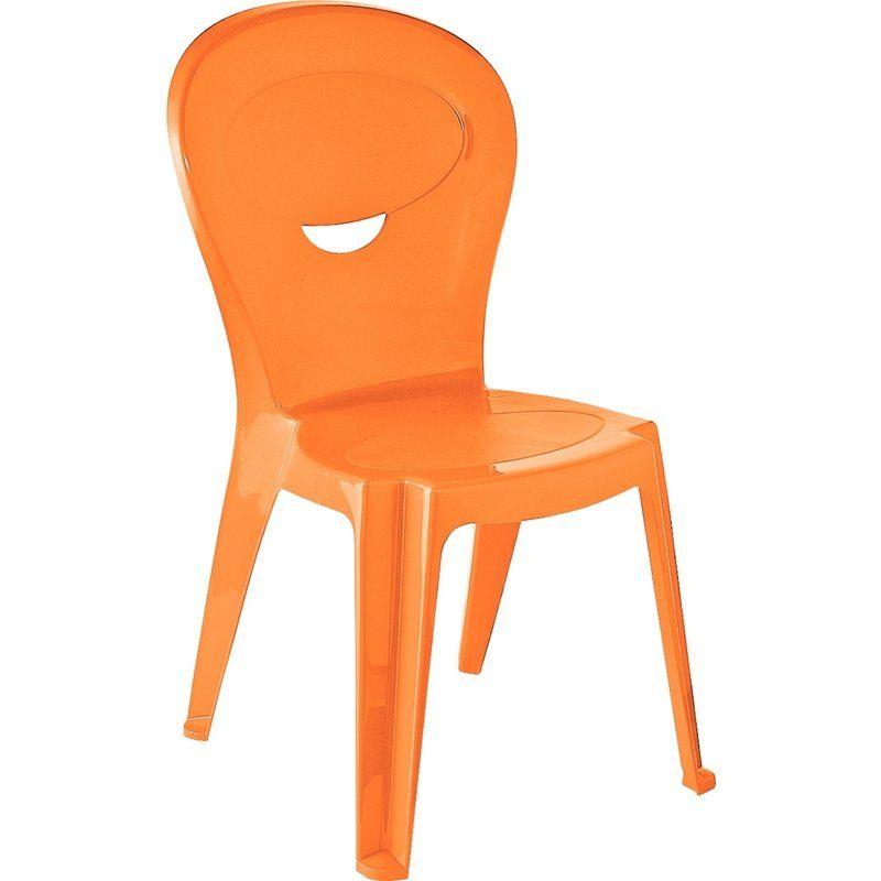 Cadeira Plástica Infantil Vice Laranja Tramontina
