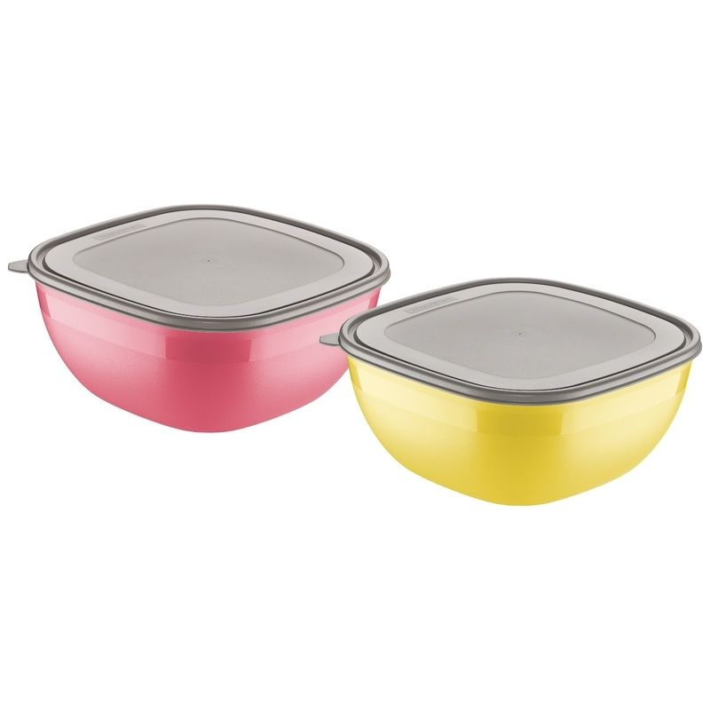 Conjunto de Potes Amarelo/rosa 4,0 Litros 2 Peças Mixcolor Tramontina