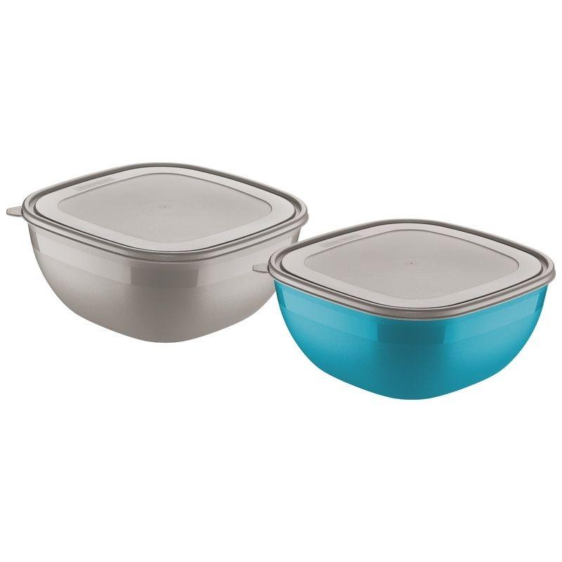Conjunto de Potes Cinza/azul 4,0 Litros 2 Peças Mixcolor Tramontina