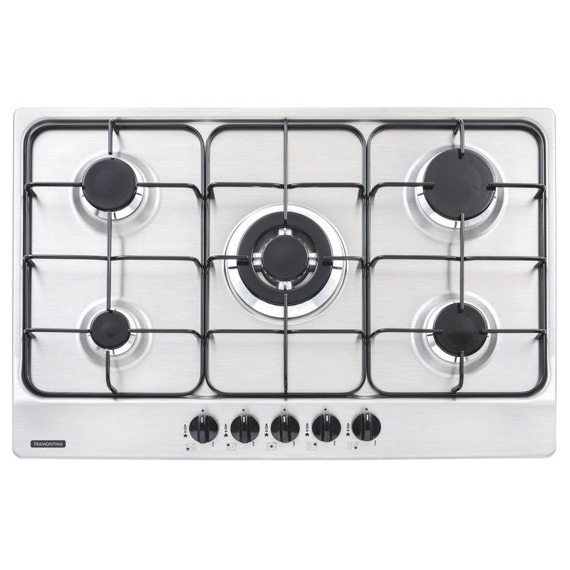 Cooktop em Aço Inox Com 5 Queimadores New Penta 5Gx Tri 75 Tramontina
