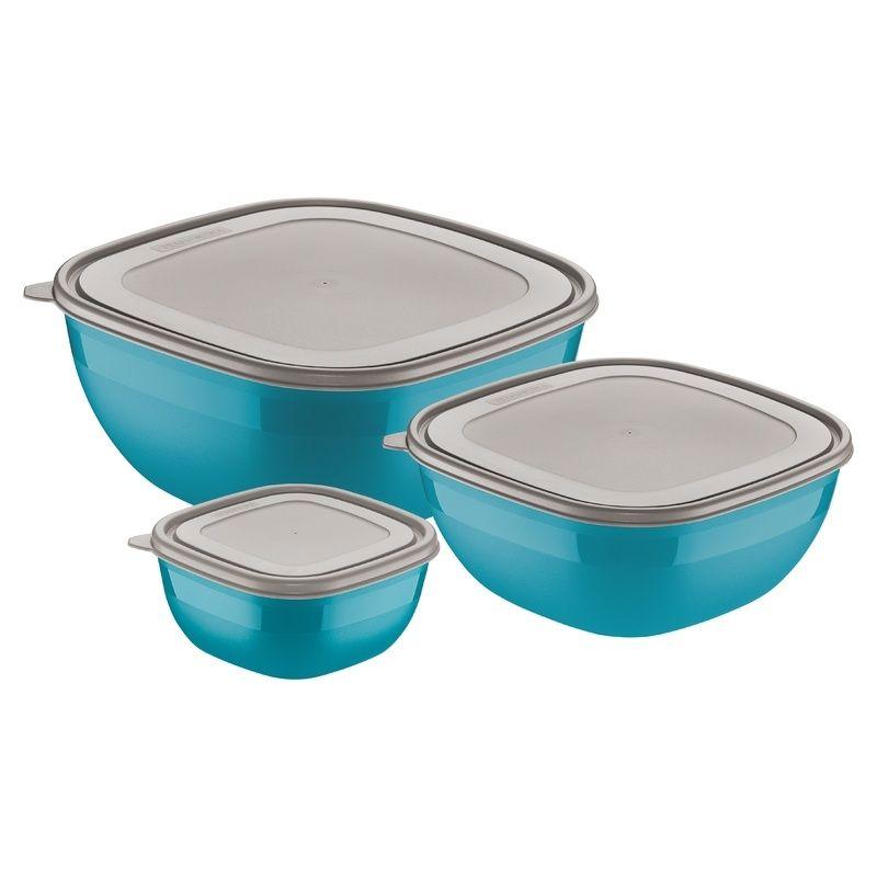 Jogo de Potes 3 Peças Azul Mixcolor Tramontina