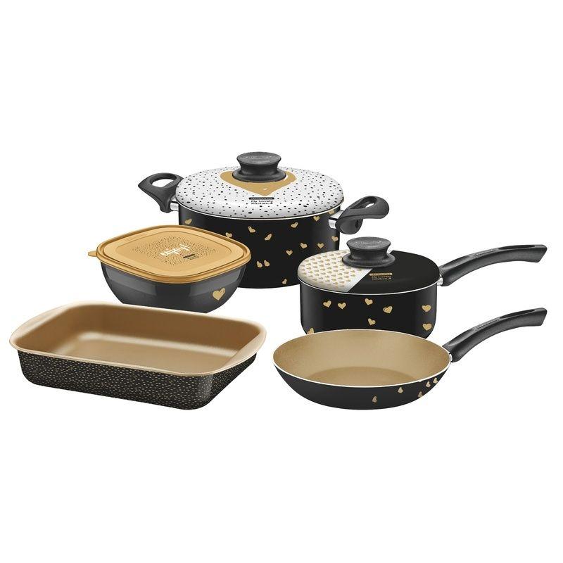 Kit Para Cozinha de Alumínio Com Revestimento Interno de Antiaderente 5 Peças my Lovely ki Tramontina