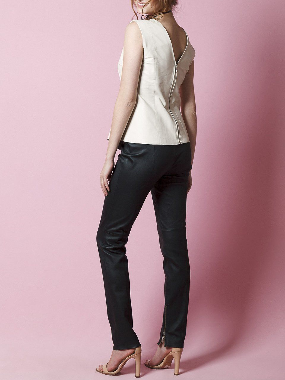 Calça Skinny em Couro Strech - Liziane Richter