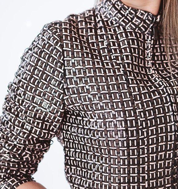 Jaqueta curta toda em Trice - Liziane Richter