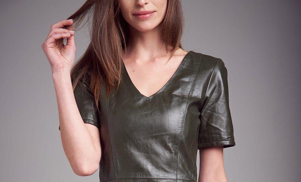 Vestido Camisa Manga Curta com Bolso Lapela - Liziane Richter