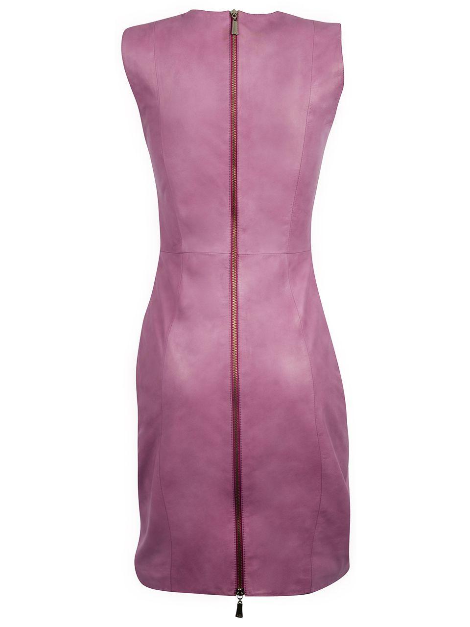 Vestido de Couro com Aplicações Frontal - Liziane Richter