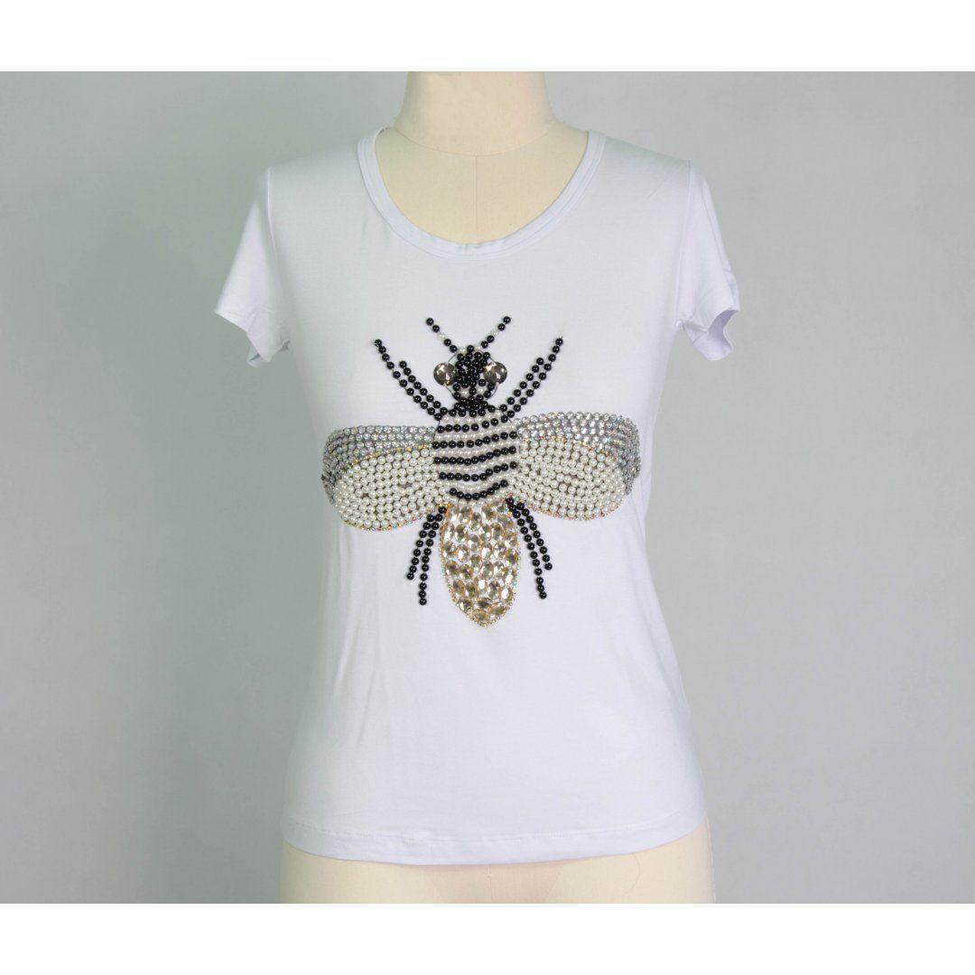 T-shirt Bordada Asor Libélula 045VF17