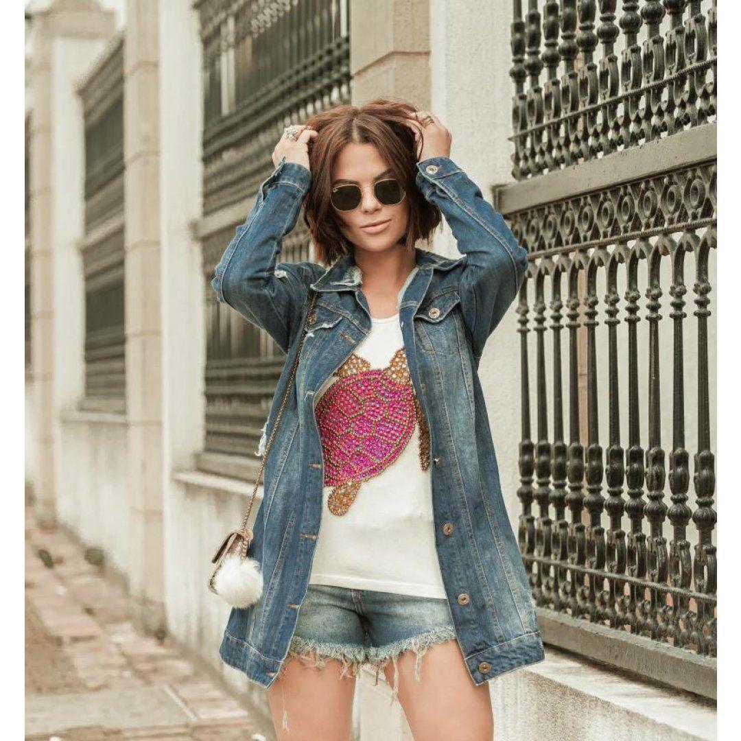 T-shirt Bordada Tartaruga Rafinha Gadelha 045VF17