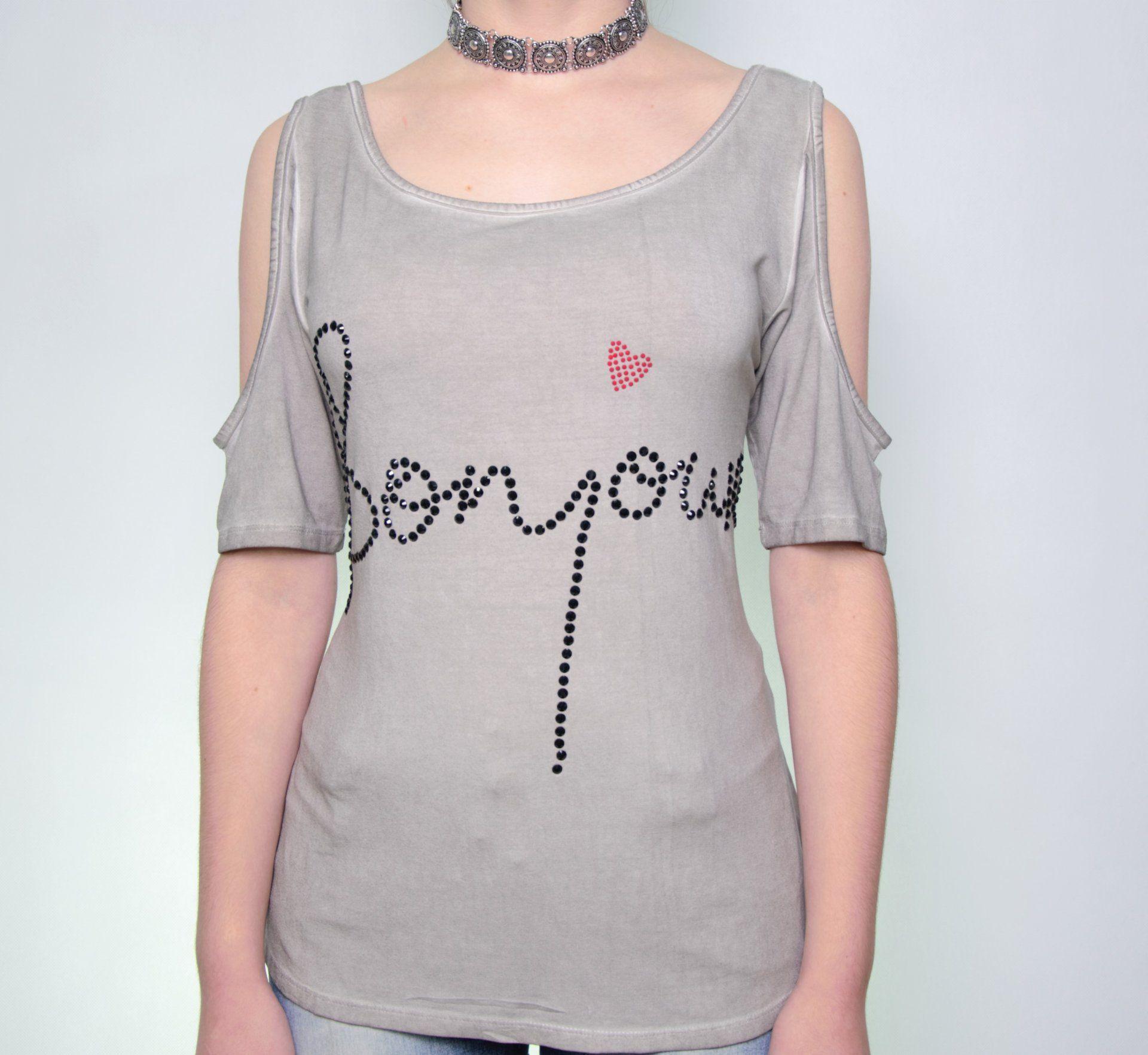 T-shirt Divino Ombro Vazado 103VF17