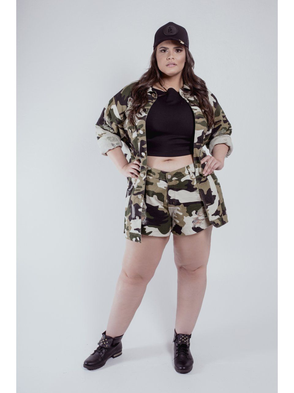 SHORT MILITAR PLUS SIZE REIZZ
