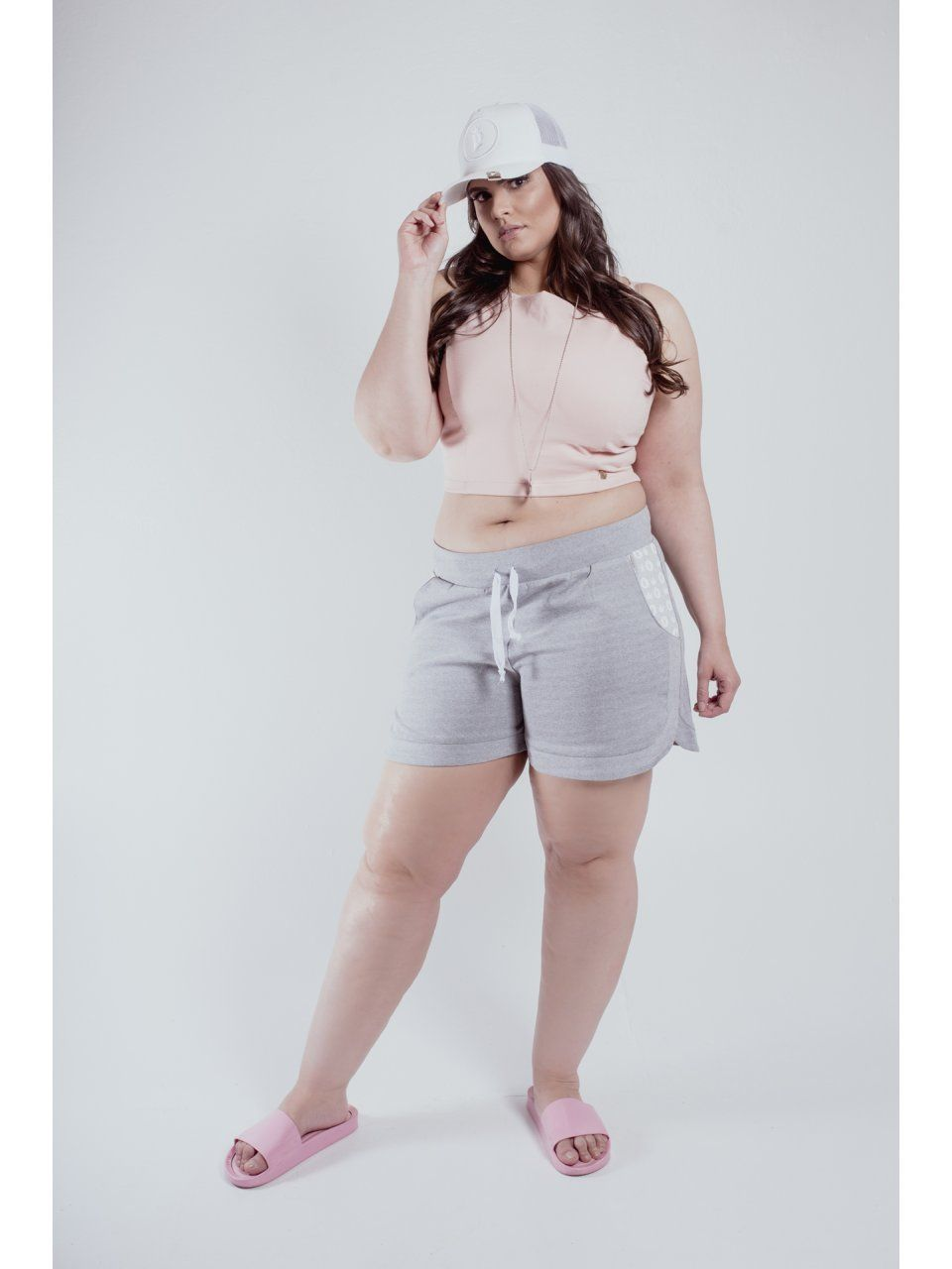 SHORT MOLETIN PLUS SIZE REIZZ