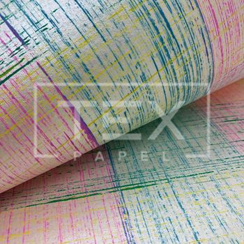 Papel Artesanal Indiano - Ref. 89 Riscas de Giz