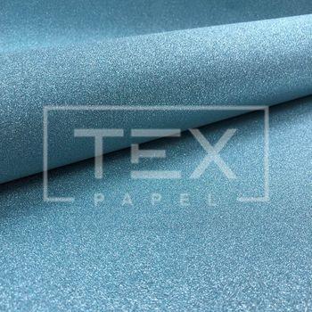 Papel com Glitter Adesivo Ref 17 Azul