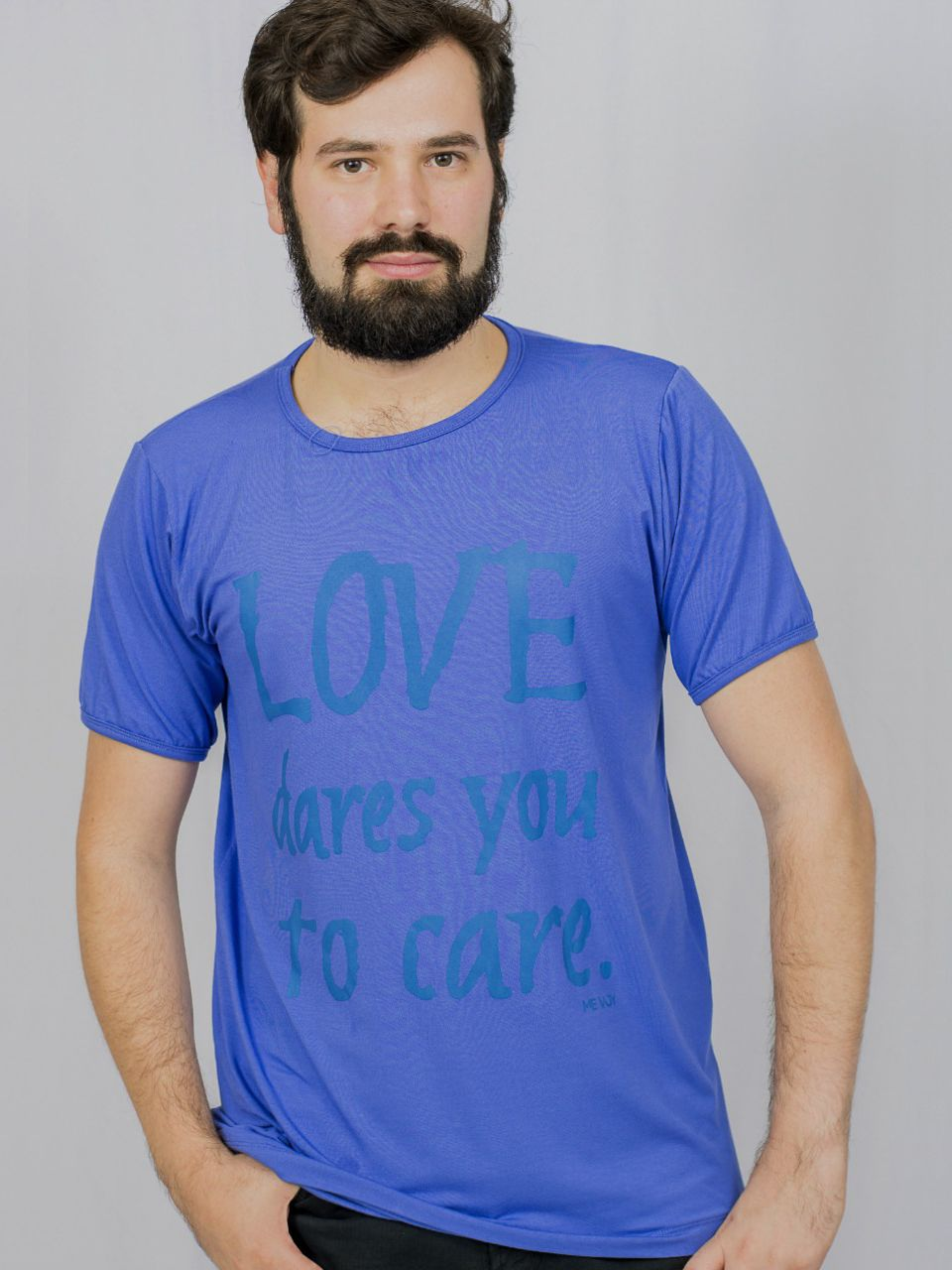 Manga Curta Masculina - Love dares You to care