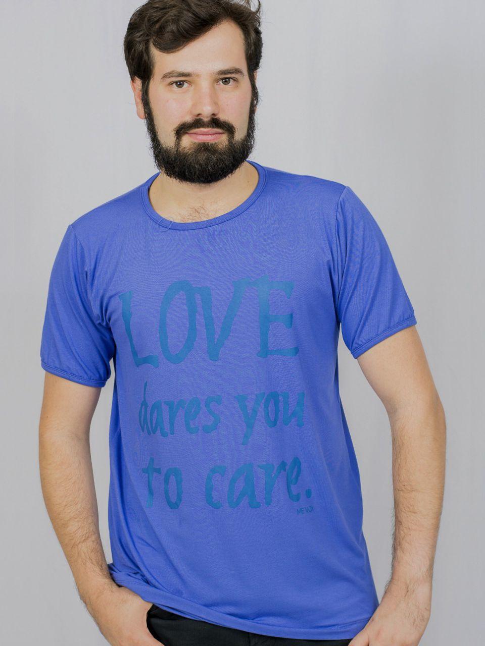 Manga Curta Masculina - Love dares You to care